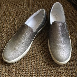 Jessica Simpson ombré glitter slip-on shoe